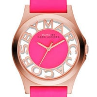 MARC BY MARC JACOBS 'Henry' Skeleton Dial Watch | Nordstrom