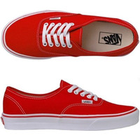 Vans Atwood Low Women's Black Canvas Skate Shoes Red