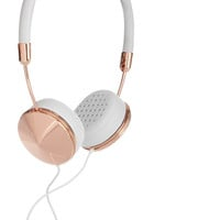 Frends|Layla leather and rose gold-tone headphones|NET-A-PORTER.COM