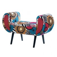 Vibrantly Colored Chic Burgeon Chaise Lounger