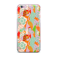 """Akwaflorell """"Fishes Here, Fishes There 2"""" Multicolor iPhone Case"""