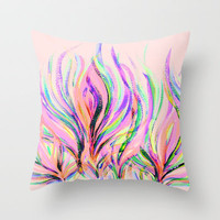 Grazioso Pastel Pink Throw Pillow by Lisa Argyropoulos | Society6