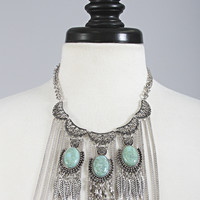 falling leaves drop necklace