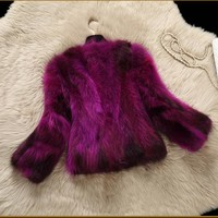 2018 New Arrival Real Raccoon Fur Coat 100% Natural True Fur Coat Women Fashion Fur Coat  Harppihop Fur