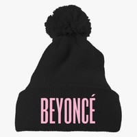 Beyonce Embroidered Knit Pom Cap