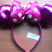 Disney Minnie Mouse Special Edition Pink Bow Head Band, Great Halloween Accessory