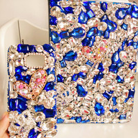 Handmade 360 Degree Full Crystal Bling Stand Leather Cover Cover for ipad Pro , case  for ipad Air 1 2, for ipad  mini