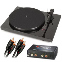 Pro-Ject: Debut Carbon DC Turntable + Phono Box MM Pre-Amp + Audioquest Interconnect Package