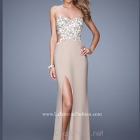 Strapless Sweetheart La Femme Formal Prom Gown 20536