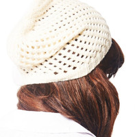 Open Work Slouchy Beanie | Wet Seal