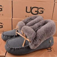 Tagre UGG Women Fashion Wool Snow Boots Calfskin Shoes