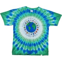 Grateful Dead Men's  Flag Bears Tie Dye T-shirt Multi