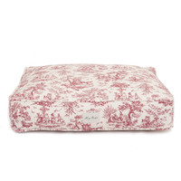Toile Rectangle Dog Bed | Red