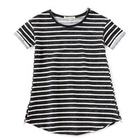 Copper Key Little Girls 2T-6X French Terry Striped Dress | Dillards