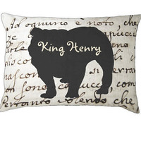 Personalized english bulldog bed/pillow, dog bed, both large and small