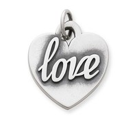 "Heart of ""Love"" Charm 