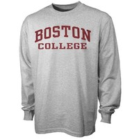 Boston College Eagles Ash Arch Logo Long Sleeve T-shirt