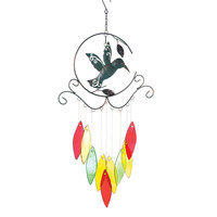 HUMMINGBIRD WITH GLASS CHIMES