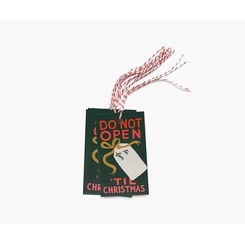Do Not Open 'Till Christmas Gift Tags - Pack of 10