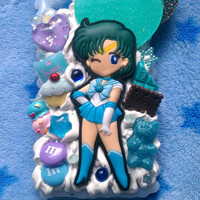 READY TO SHIP, Sailor Mercury Snap On Phone Case For The iPhone 4 :3
