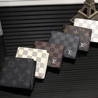 LV Men Leather Purse Wallet