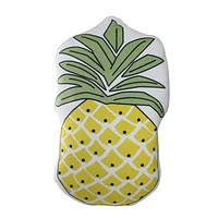 "18"" Decorative Pineapple Shaped Plush Fleece Throw Pillow"