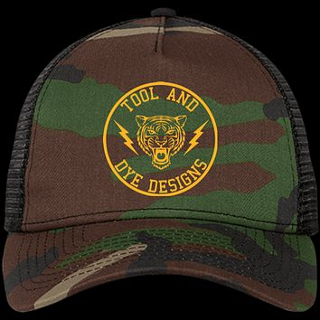 Tiger's Head Tool and Dye New Era Truckers Hat Camo