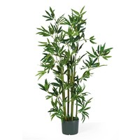 SheilaShrubs.com: 4' Bamboo Silk Plant 5040 by Nearly Natural : Artificial Flowers & Plants