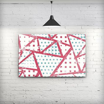 Abstract Red and Teal Overlaps - Fine-Art Wall Canvas Prints