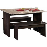 Walmart: Sauder Beginnings Trestle Dining Table with Benches, Multiple Finishes