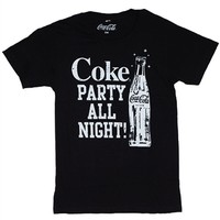 Coca Cola Party All Night T-Shirt | Famous Brands T-shirt