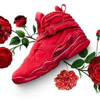 [Free Shipping ]Nike Air Jordan 8 VIII Retro VDAY Valentines Day  Gym Red AQ2449-614 Basketball Sneaker