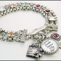 Gifts for Mother, Personalize Jewelry with Childrens Names, Birthstone Gifts for Mom, Birthstone Jewelry for Grandma,