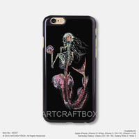 Skeleton of little mermaid Free Shipping iPhone 6 6Plus case iPhone 5s case iPhone 5C case 337