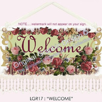 Welcome 16 x 10  Victorian Wall Hanging