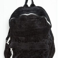 BLACK CORDUROY BACKPACK