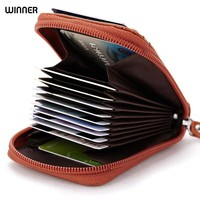 Made of Genuine Leather Men Card Holder Wallets High Quality Female Credit Card Holders Women Pillow Organizer Purse