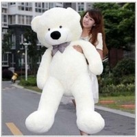 "Cute 47"" White Color 1.2m Giant Huge Cuddly Stuffed Animals Plush Teddy Bear Toy Doll"