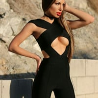 Cole Black Bandage Jumpsuit