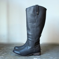 horse club riding boots , grey