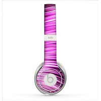 The Pink Vector Swirly HD Strands Skin for the Beats by Dre Solo 2 Headphones