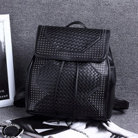 Brand Like Fashion Rivet Leather Shoulder Candy Multi Color Women Casual Backpack Messenger Bags Chic Back Pack  _ 8298