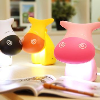 Bright Colorful Lovely Lamp USB Lights Creative LED Simple Design Bedside Lamp [6283335110]