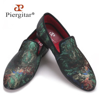 New Mix Colors Graffiti Men Fabric Causal Shoes Men Party Loafers Smoking Slippers Men's Flats