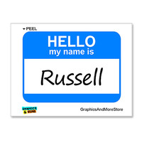 Russell Hello My Name Is Sticker