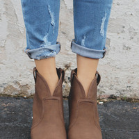 Wild Horses Booties - Brown