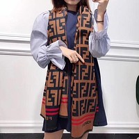 Fendi Women Wool Scarf Shawl Scarf