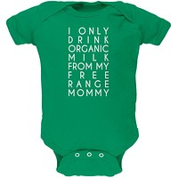 Organic Milk Free Range Mommy Kelly Green Soft Baby One Piece