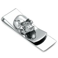 Skull Designs Slim Purse Money Clip