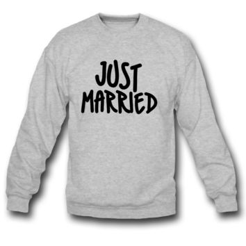 just married sweatshirt